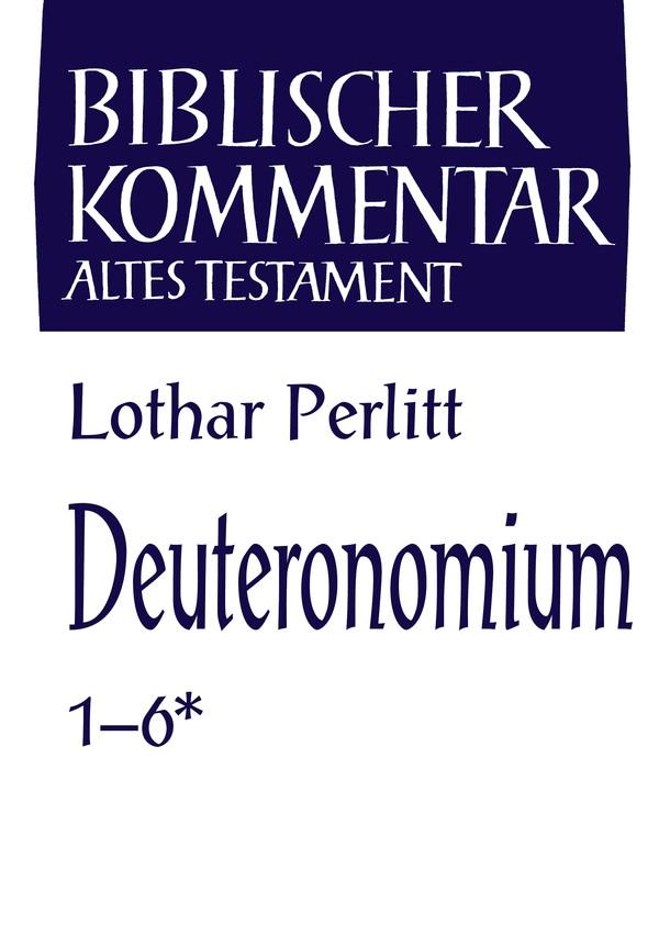 Abbildung von Perlitt | Deuteronomium (1-6*) | 2013