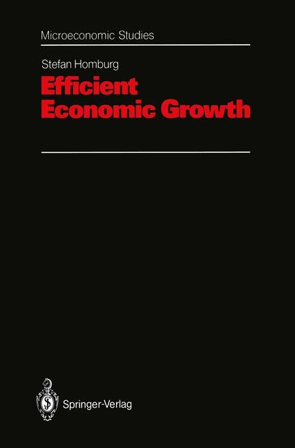 Abbildung von Homburg | Efficient Economic Growth | 1992