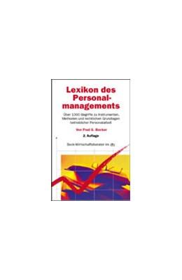 Abbildung von Becker | Lexikon des Personalmanagements | 2. Auflage | 2002 | 5872 | beck-shop.de