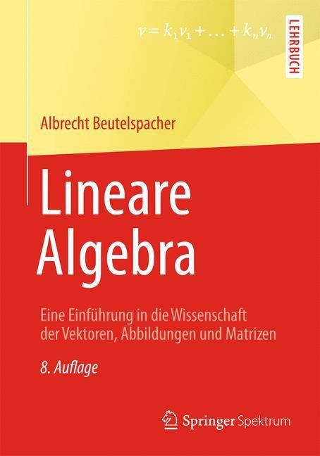 Abbildung von Beutelspacher | Lineare Algebra | 2013