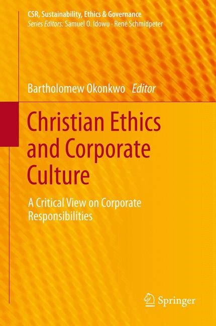 Christian Ethics and Corporate Culture | Okonkwo, 2013 | Buch (Cover)
