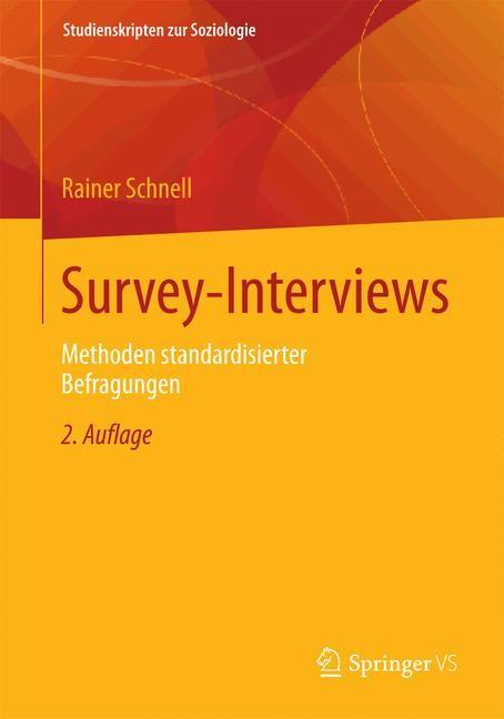 Abbildung von Schnell   Survey-Interviews   2. Aufl. 2019   2019