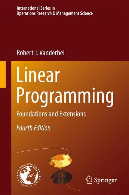 Abbildung von Vanderbei | Linear Programming | 2013