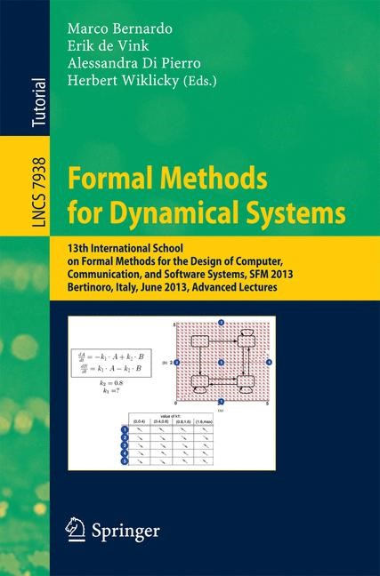 Abbildung von Bernardo / de Vink / Di Pierro / Wiklicky | Formal Methods for Dynamical Systems | 2013