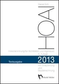 Abbildung von Eich | HOAI 2013 – Honorarordnung für Architekten und Ingenieure – Textausgabe | 5., aktualisierte Auflage | 2013