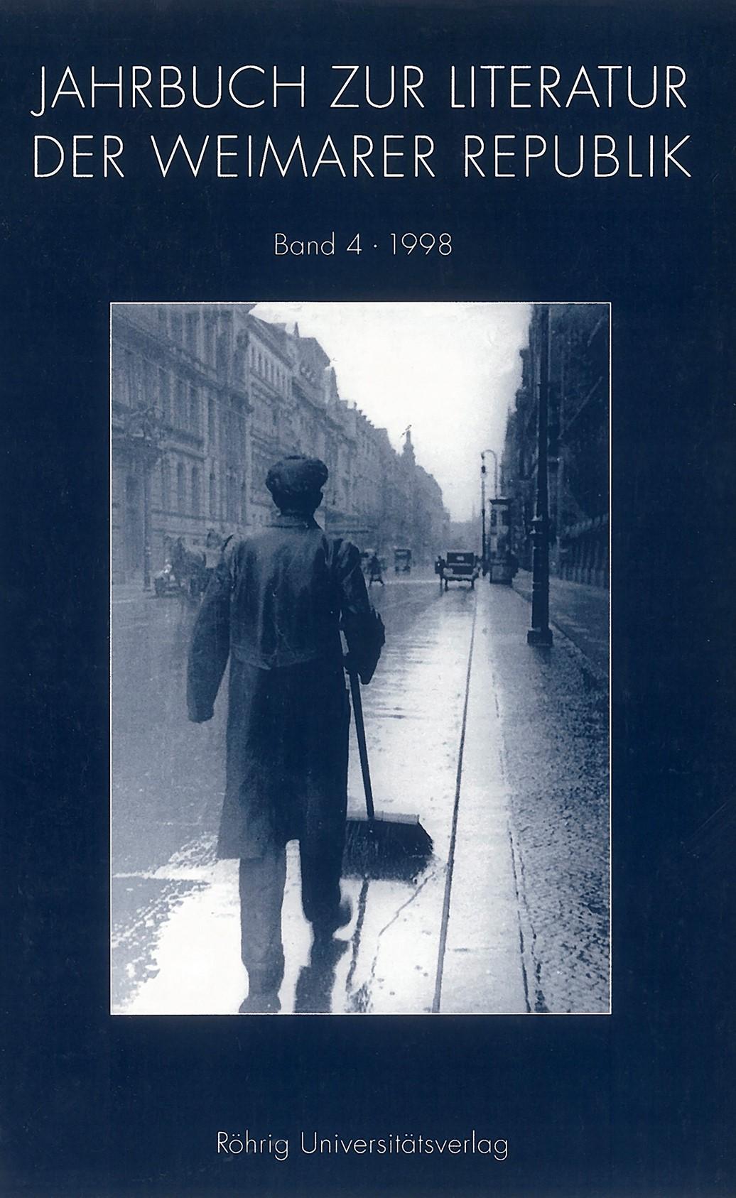 JAHRBUCH ZUR KULTUR UND LITERATUR DER WEIMARER REPUBLIK, 1998 | Buch (Cover)