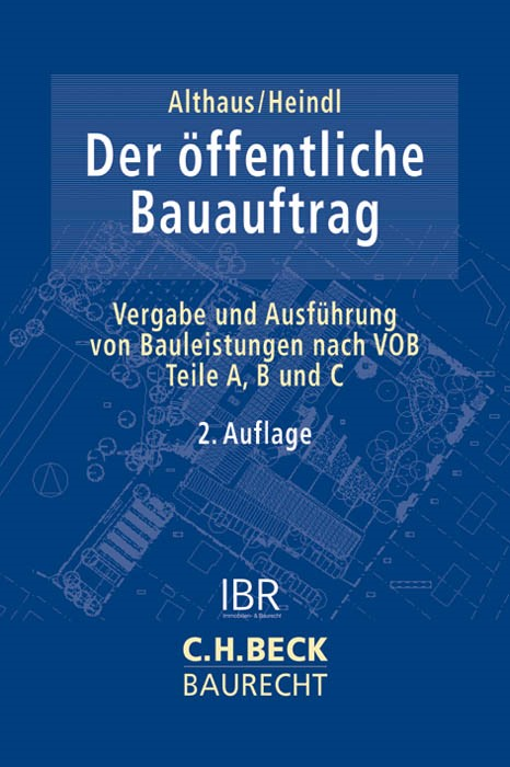 Der öffentliche Bauauftrag | Althaus / Heindl | Buch (Cover)