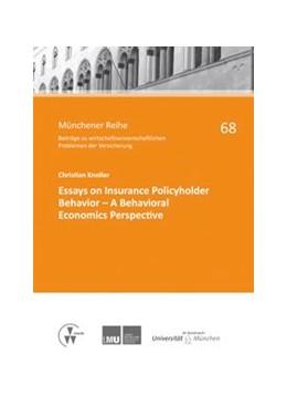 Abbildung von Richter / Knoller / Hartung | Essays on Insurance Policyholder Behavior - A Behavioral Economics Perspective | 1. Auflage 2013 | 2013 | 68