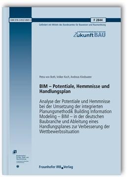 Abbildung von Both / Koch / Kindsvater | BIM - Potentiale, Hemmnisse und Handlungsplan | 2013 | Analyse der Potentiale und Hem... | 2844