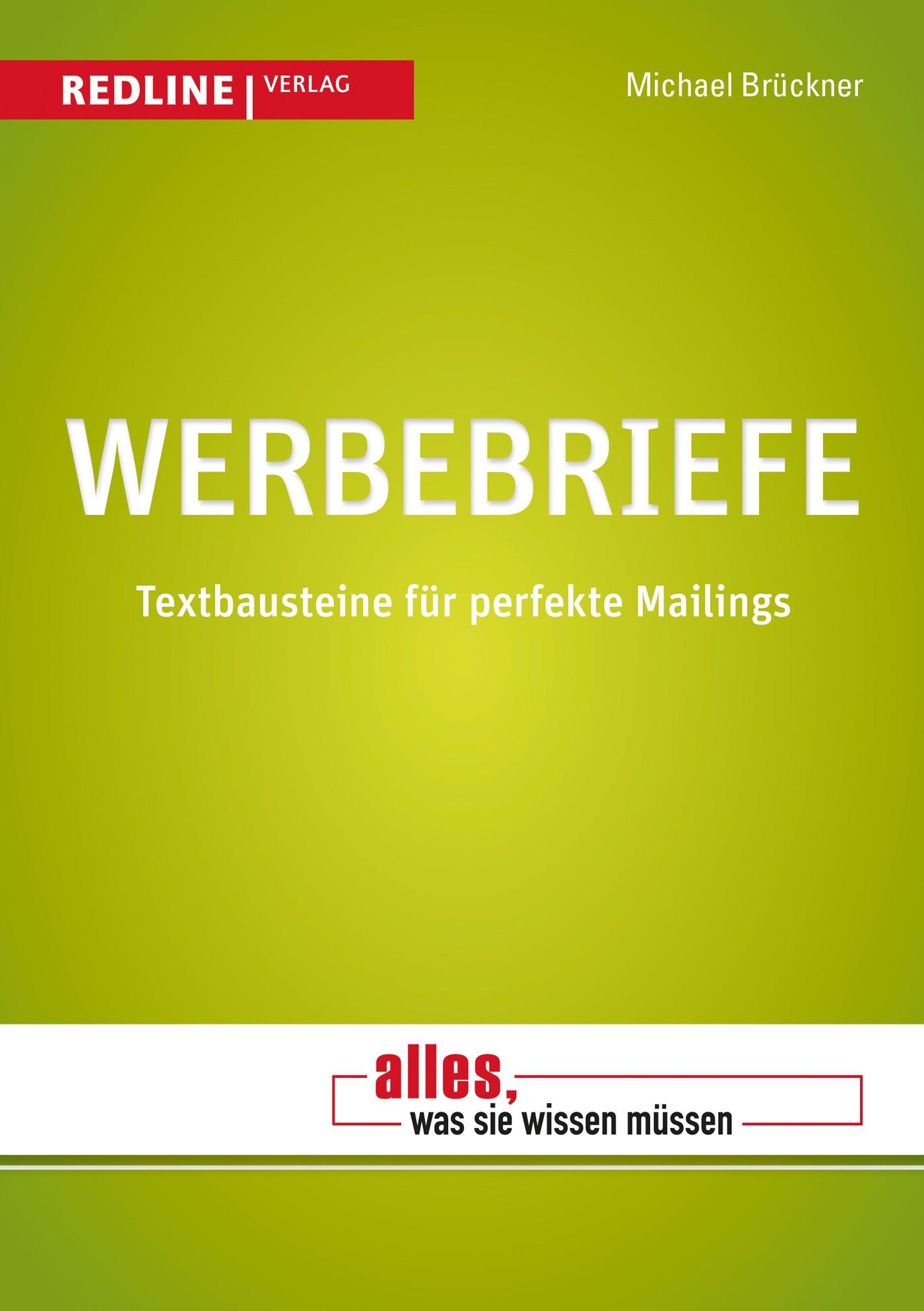 Werbebriefe | Brückner | 2. Auflage 2013, 2013 | Buch (Cover)