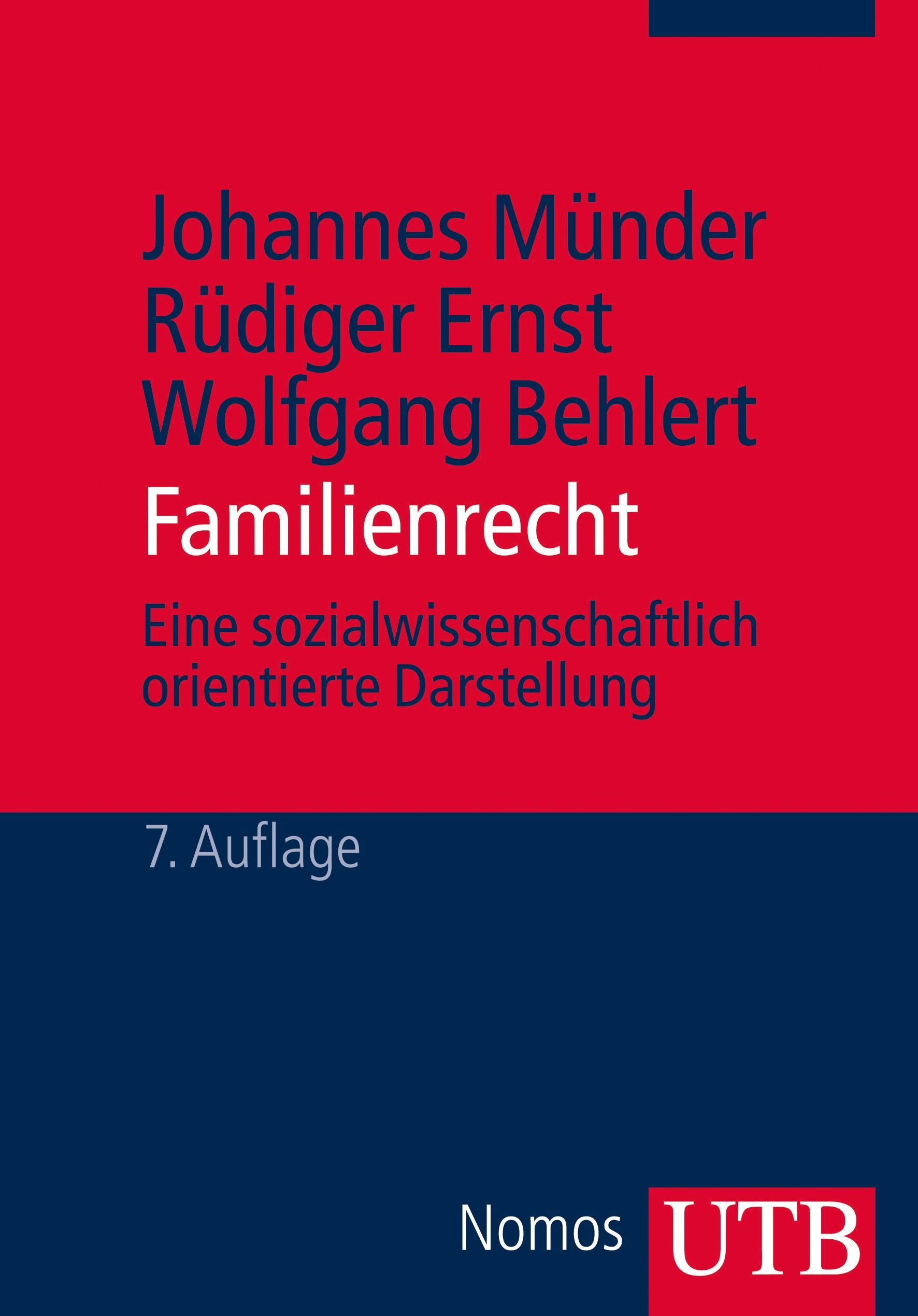 Abbildung von Münder / Ernst / Behlert | Familienrecht | 7. Auflage | 2014