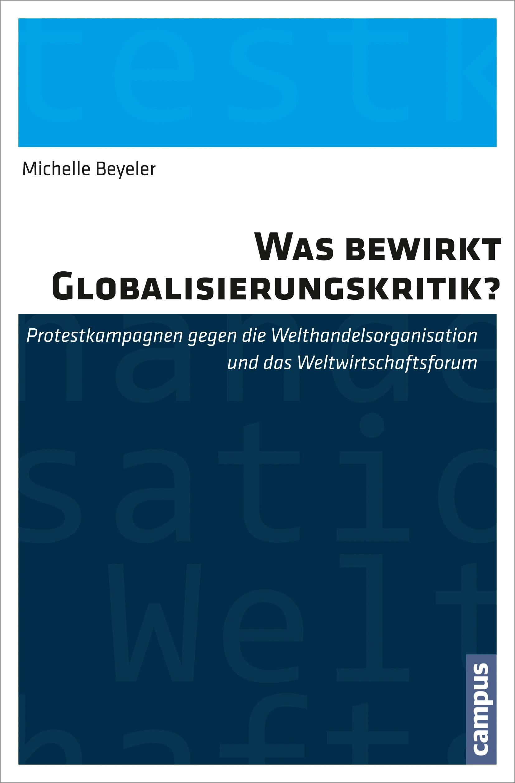 Abbildung von Beyeler | Was bewirkt Globalisierungskritik? | 2013