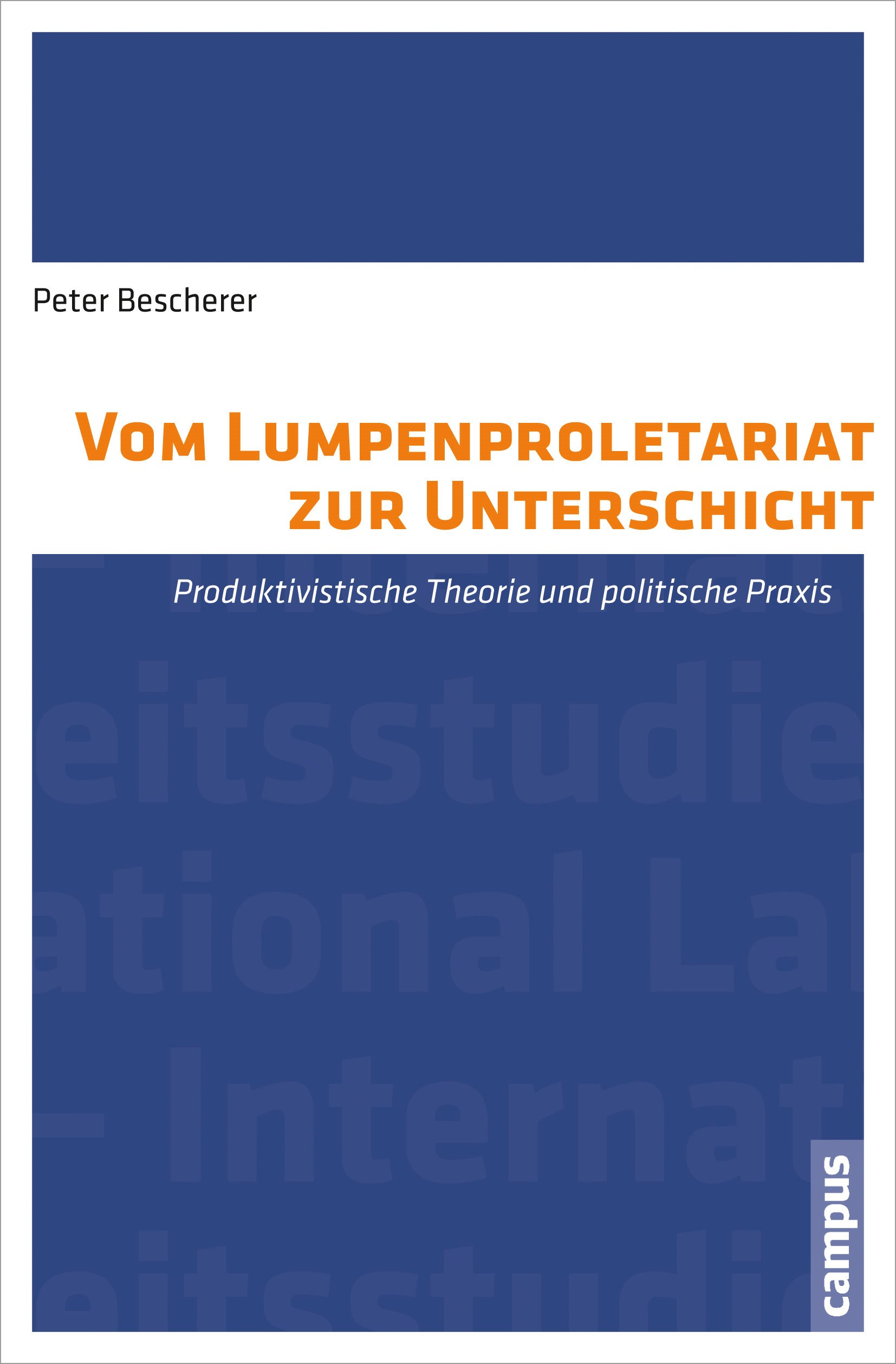 Abbildung von Bescherer | Vom Lumpenproletariat zur Unterschicht | 2013