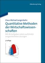 Abbildung von Langenbahn | Quantitative Methoden der Wirtschaftswissenschaften | 3. überarb. Aufl. | 2013