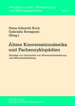 Abbildung von Rovagnati / Koch | Ältere Konversationslexika und Fachenzyklopädien | 1. Auflage | 2013 | 1 | beck-shop.de
