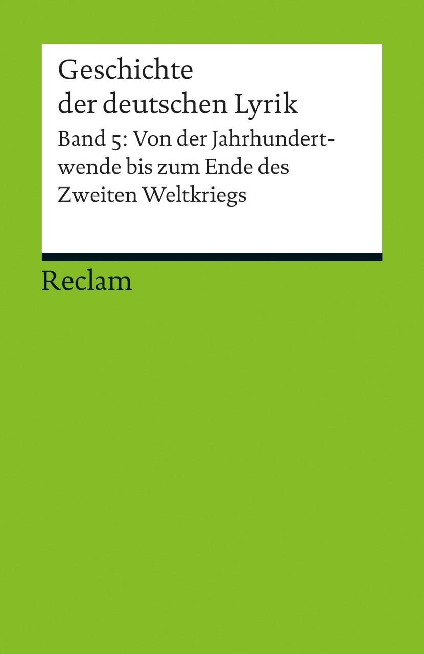 Abbildung von Schnell | Geschichte der deutschen Lyrik | 2013
