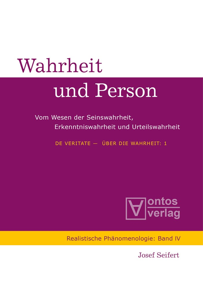 Abbildung von Seifert | De Veritate - Über die Wahrheit | 2009