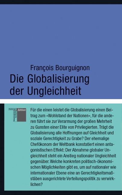 Die Globalisierung der Ungleichheit | Bourguignon, 2013 | Buch (Cover)