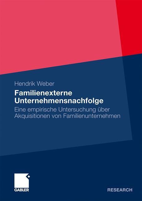 Abbildung von Weber | Familienexterne Unternehmensnachfolge | 2009