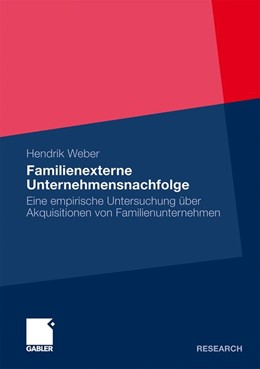 Abbildung von Weber | Familienexterne Unternehmensnachfolge | 2009 | Eine empirische Untersuchung ü...