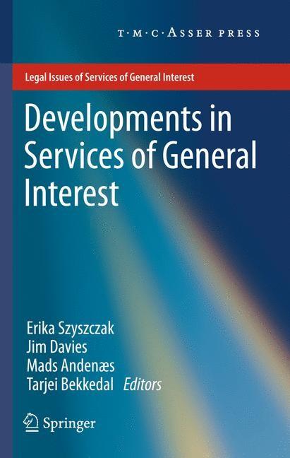 Abbildung von Szyszczak / Davies / Andenæs / Bekkedal   Developments in Services of General Interest   2013