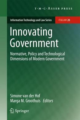 Abbildung von van der Hof / Groothuis | Innovating Government | 2013
