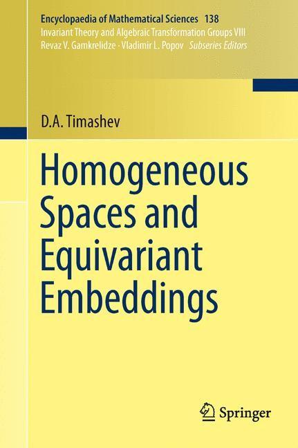 Abbildung von Timashev | Homogeneous Spaces and Equivariant Embeddings | 2013
