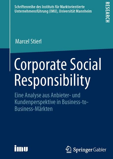 Corporate Social Responsibility | Stierl | 1. Auflage 2013, 2013 | Buch (Cover)