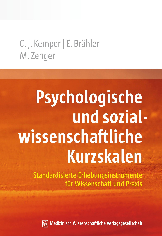 Psychologische und sozialwissenschaftliche Kurzskalen | Brähler / Zenger / Kemper, 2013 | Buch (Cover)