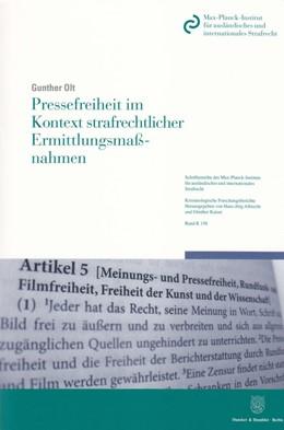Abbildung von Olt | Pressefreiheit im Kontext strafrechtlicher Ermittlungsmaßnahmen | 2013 | 156
