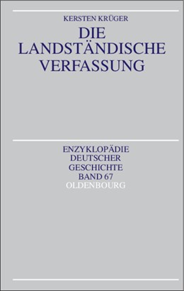 Abbildung von Krüger   Die Landständische Verfassung   2003