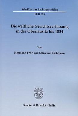 Abbildung von Salza und Lichtenau | Die weltliche Gerichtsverfassung in der Oberlausitz bis 1834 | 2013 | 163