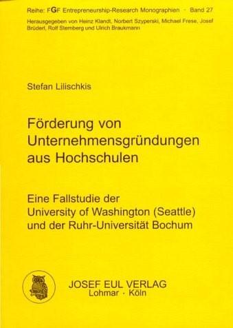 Förderung von Unternehmensgründungen aus Hochschulen | Lilischkis, 2001 | Buch (Cover)