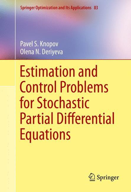 Abbildung von Knopov / Deriyeva | Estimation and Control Problems for Stochastic Partial Differential Equations | 2013
