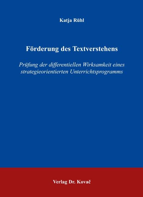 Abbildung von Rühl   Förderung des Textverstehens   2006
