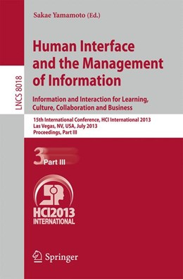 Abbildung von Yamamoto | Human Interface and the Management of Information | 2013 | Information and Interaction fo...