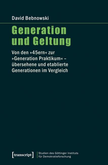Abbildung von Bebnowski | Generation und Geltung | 2012