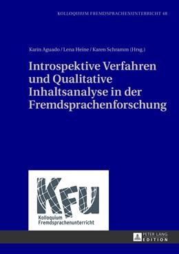 Abbildung von Aguado / Schramm / Heine | Introspektive Verfahren und Qualitative Inhaltsanalyse in der Fremdsprachenforschung | 2013 | 48