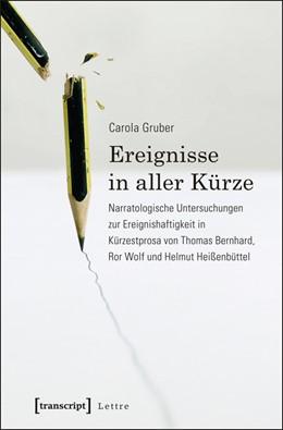 Abbildung von Gruber   Ereignisse in aller Kürze   2014   Narratologische Untersuchungen...
