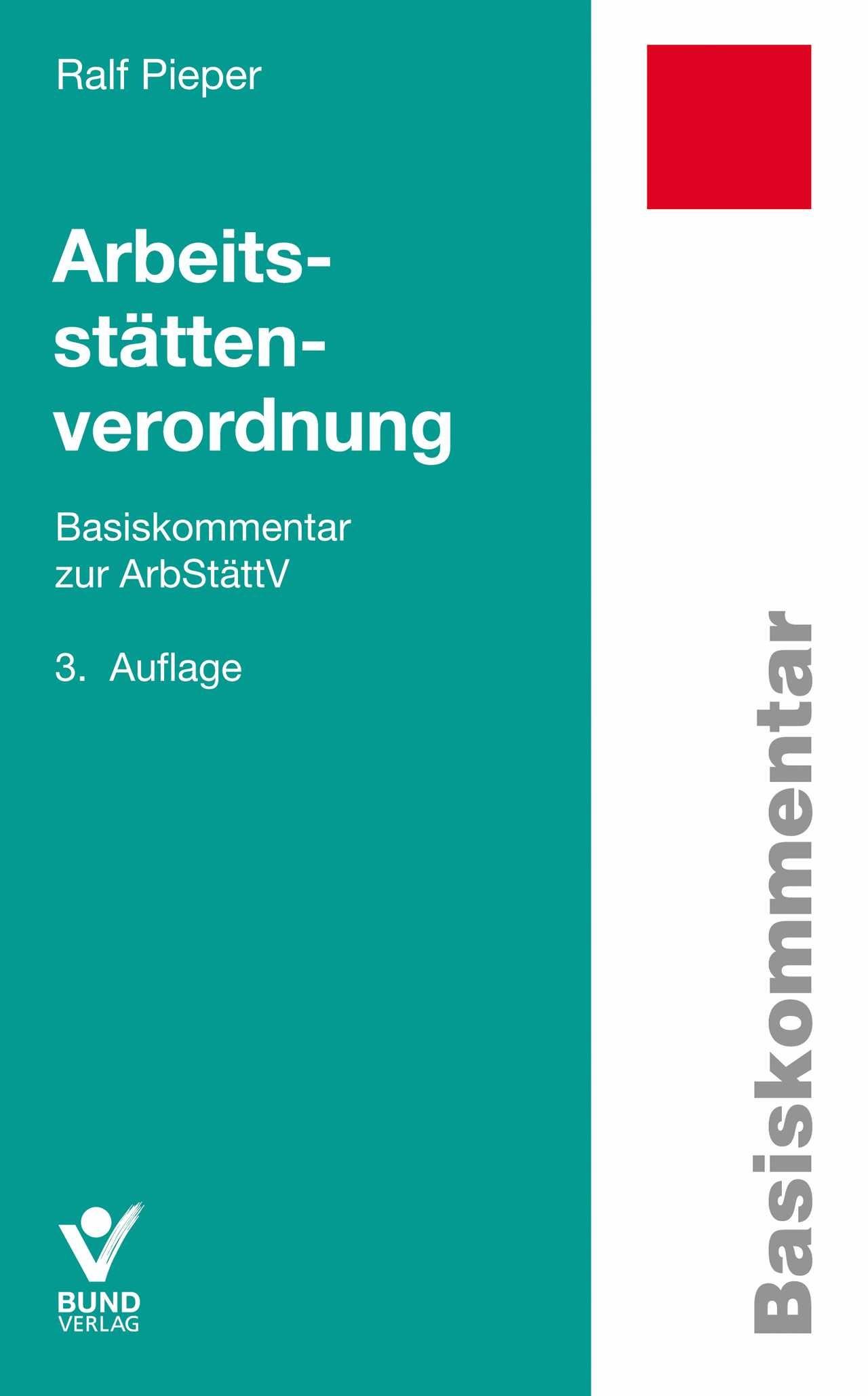 Arbeitsstättenverordnung | Pieper | Buch (Cover)