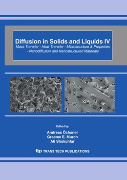 Abbildung von Öchsner / Murch / Shokuhfar | Diffusion in Solids and Liquids IV | 2009