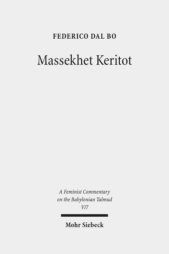 Abbildung von Dal Bo | Massekhet Keritot | 2013