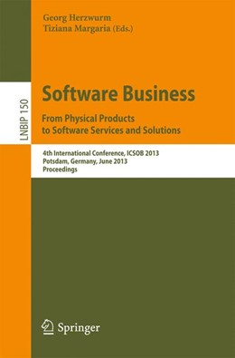 Abbildung von Herzwurm / Tiziana | Software Business. From Physical Products to Software Services and Solutions | 1. Auflage 2013 | 2013 | 4th International Conference, ... | 150