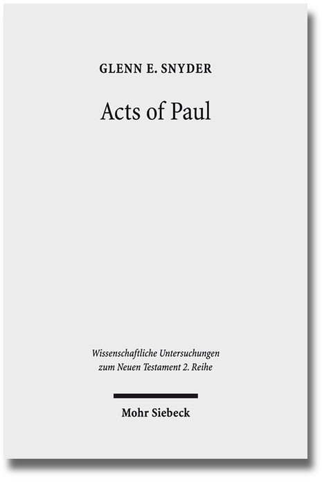 Abbildung von Snyder | Acts of Paul | 2013