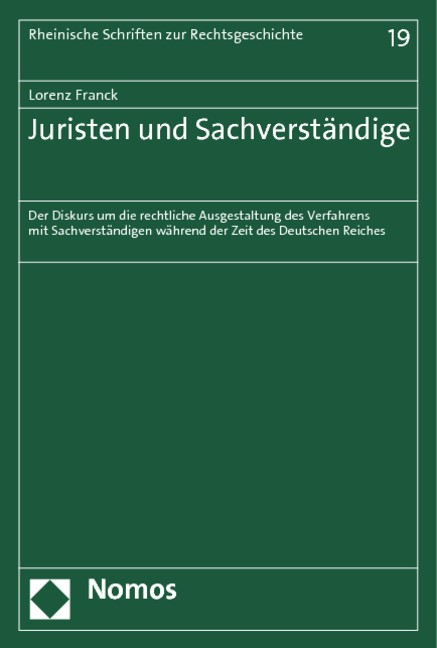 Abbildung von Franck | Juristen und Sachverständige | 2013