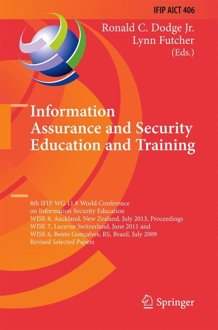 Abbildung von Dodge / Futcher | Information Assurance and Security Education and Training | 2013