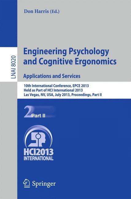 Abbildung von Harris | Engineering Psychology and Cognitive Ergonomics. Applications and Services | 2013