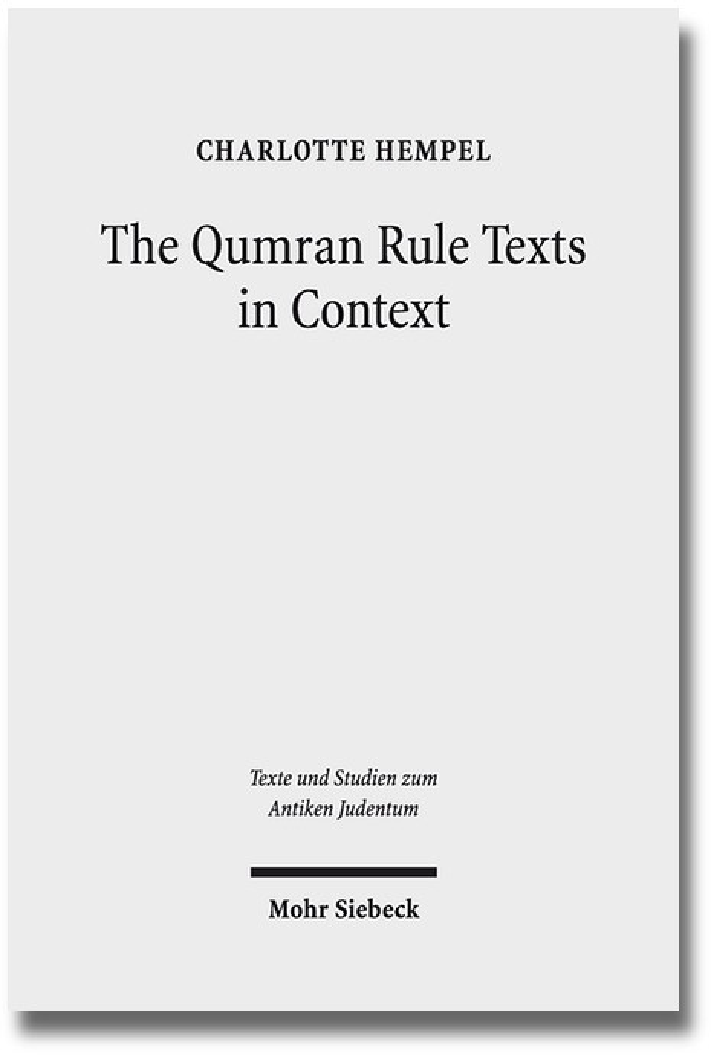 Abbildung von Hempel   The Qumran Rule Texts in Context   2013