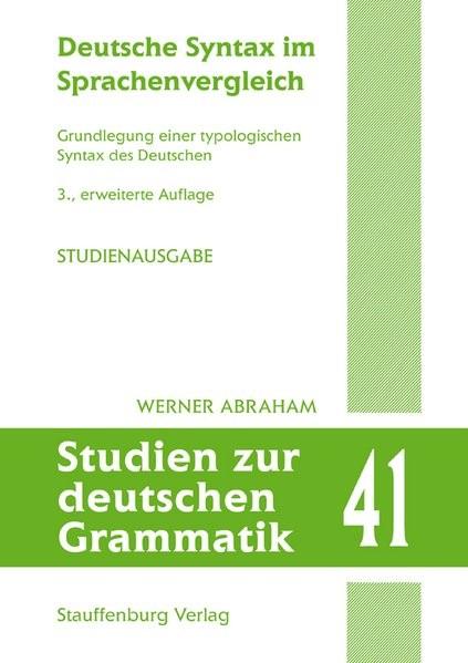 Deutsche Syntax im Sprachenvergleich | Abraham | 3., erweitere Auflage, 2019 | Buch (Cover)