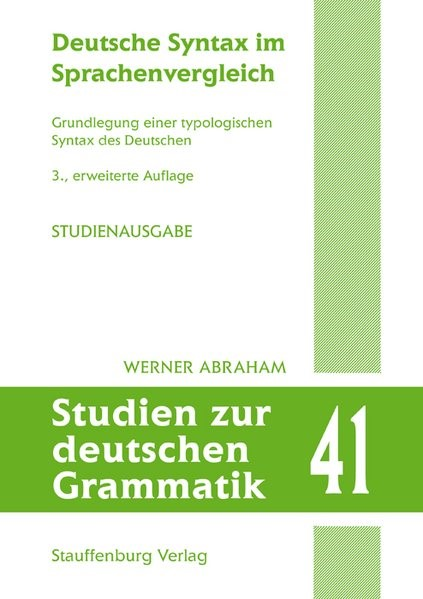 Abbildung von Abraham | Deutsche Syntax im Sprachenvergleich | 3., erweitere Auflage | 2019